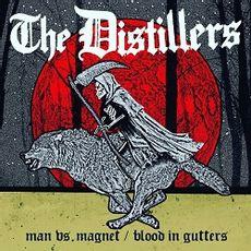 MAN VS MAGNET B/W BLOOD IN GUTTERS
